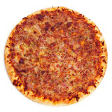 Pizza d'oignon et de lard Photos stock