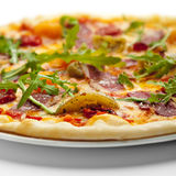 Pizza da carne do pato Fotos de Stock
