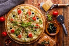 Pizza da galinha Fotos de Stock