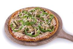 Pizza da galinha Fotografia de Stock Royalty Free