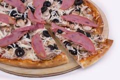 Pizza da galinha fotografia de stock