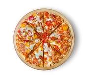 Pizza da galinha do assado Fotos de Stock Royalty Free