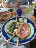 Pizza da ilha de Capri Fotografia de Stock