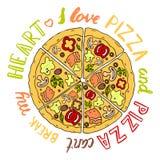 Pizza da ilustração do vetor Foto de Stock