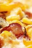 Pizza da parte superior imagens de stock