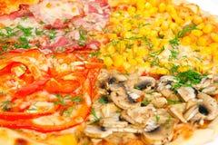 pizza da Quatro-cor, fim acima do tiro Fotografia de Stock