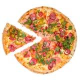 Pizza dalla cima Fotografia Stock