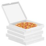 Pizza dans la boîte Image libre de droits