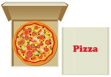 Pizza dans le cadre illustration stock