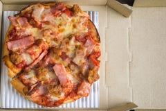 Pizza dans le cadre ouvert Images libres de droits