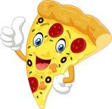 Pizza de bande dessinée renonçant au pouce illustration stock