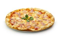 Pizza de Carbonara Fotografía de archivo
