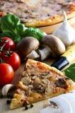 Pizza de champignon de couche Image libre de droits