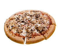 Pizza de champignon de couche Image stock