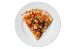 Pizza de color salmón Fotos de archivo libres de regalías