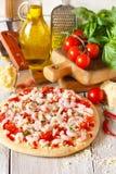 Pizza de crevette Photos libres de droits