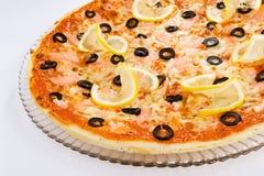 Pizza de crevette Image stock