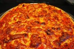 Pizza de cuisine familiale, mozzarella de tomates de poivrons Photographie stock
