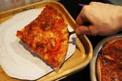 Pizza de cuisine familiale, mozzarella de tomates de poivrons Photos libres de droits