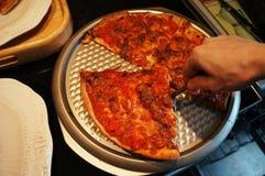 Pizza de cuisine familiale, mozzarella de tomates de poivrons Image stock