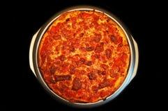 Pizza de cuisine familiale, mozzarella de tomates de poivrons Photo stock