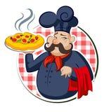 Pizza de cuisinier Photo stock