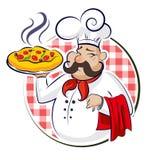 Pizza de cuisinier Photos libres de droits