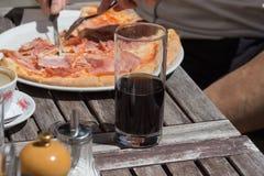 pizza de déjeuner d'Italie Photo stock