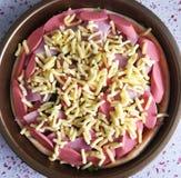 Pizza de DIY photographie stock