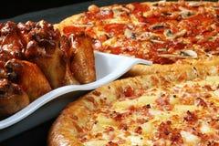Pizza de famille combinée Photo stock