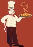 Pizza de fixation de chef Images stock