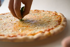 Pizza de fromage Photo stock