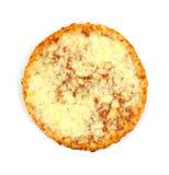 Pizza de fromage simple de portion photographie stock