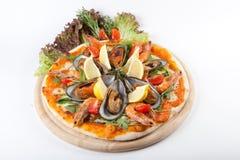 Pizza de fruits de mer Photo libre de droits