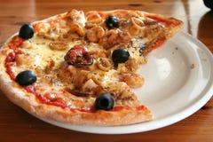 Pizza de fruits de mer Photographie stock libre de droits