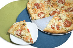 Pizza de fruits de mer Image stock