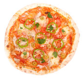 Pizza de ?hicken Photo stock