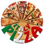 Pizza de Italia en la tarjeta de corte Fotografía de archivo libre de regalías