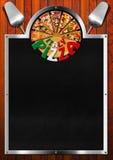 Pizza de l'Italie - conception de menu Photos stock