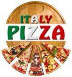 Pizza de l'Italie sur la planche à découper Photographie stock libre de droits