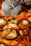 Pizza de la berenjena Imagen de archivo