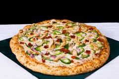 Pizza de la carne Fotografía de archivo