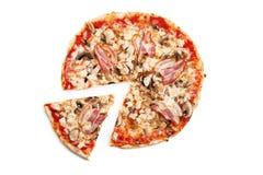 Pizza de la carne Imagen de archivo