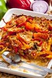 Pizza de la carne picadita Imagen de archivo