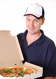 pizza de la distribution photo stock
