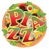 Pizza de la historieta Imagenes de archivo