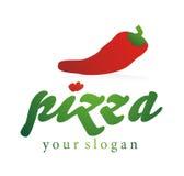 Pizza de la insignia de la compañía Fotografía de archivo libre de regalías
