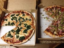 Pizza de la manera de Joes fotos de archivo libres de regalías