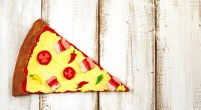 Pizza de la pasta de la arcilla imágenes de archivo libres de regalías