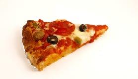 Pizza de la rebanada Fotografía de archivo